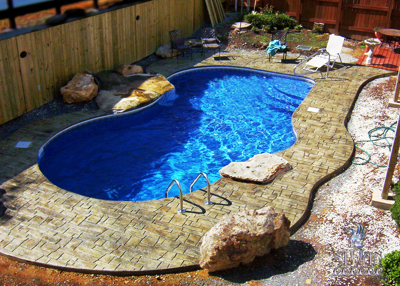 Cape concrete designs stamped concrete for Concrete pool designs